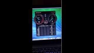 HP envy runs OS X Mavericks ssd speed test