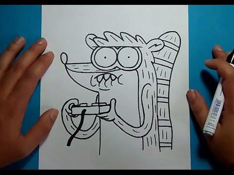 Como dibujar a Rigby paso a paso 3 - Un show mas | How to draw Rigby 3 - Regular show