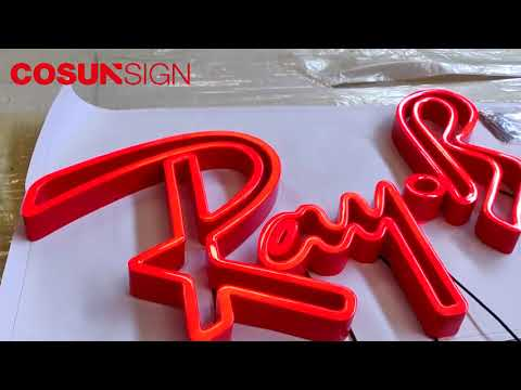 Cosun red Epoxy Resin Letter Sign