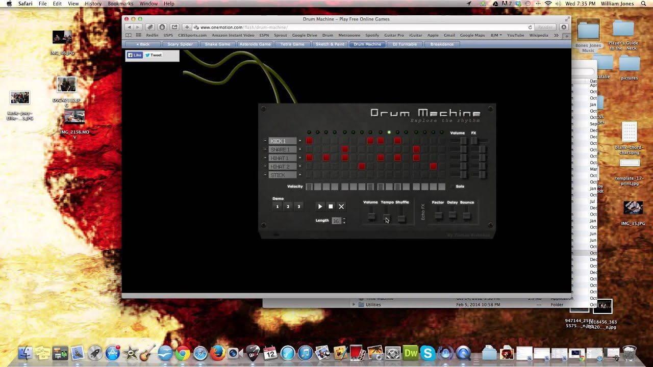 how to use the one motion online drum machine youtube