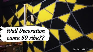 Modal 50 Ribu Bisa Bikin Kamar Keren ??? (Youtube Wall Painting Ideas) #2