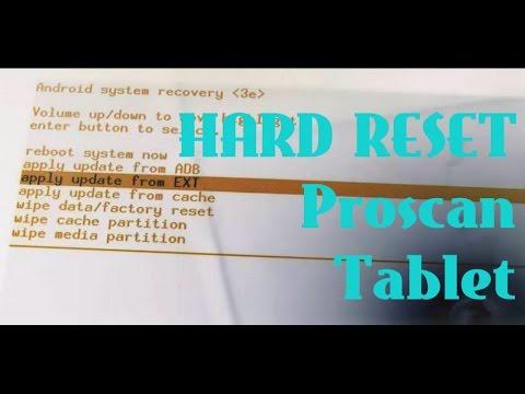 How To Hard Reset Proscan PTL1066 Tablet