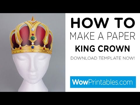 How To Make Paper King Crown ( Printable Template )