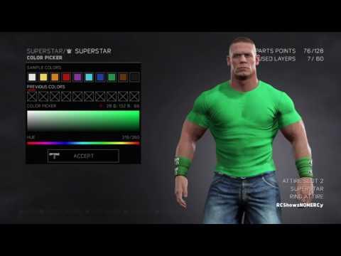 WWE 2K17 John Cena U Cant See Me Green T- Shirt Attire
