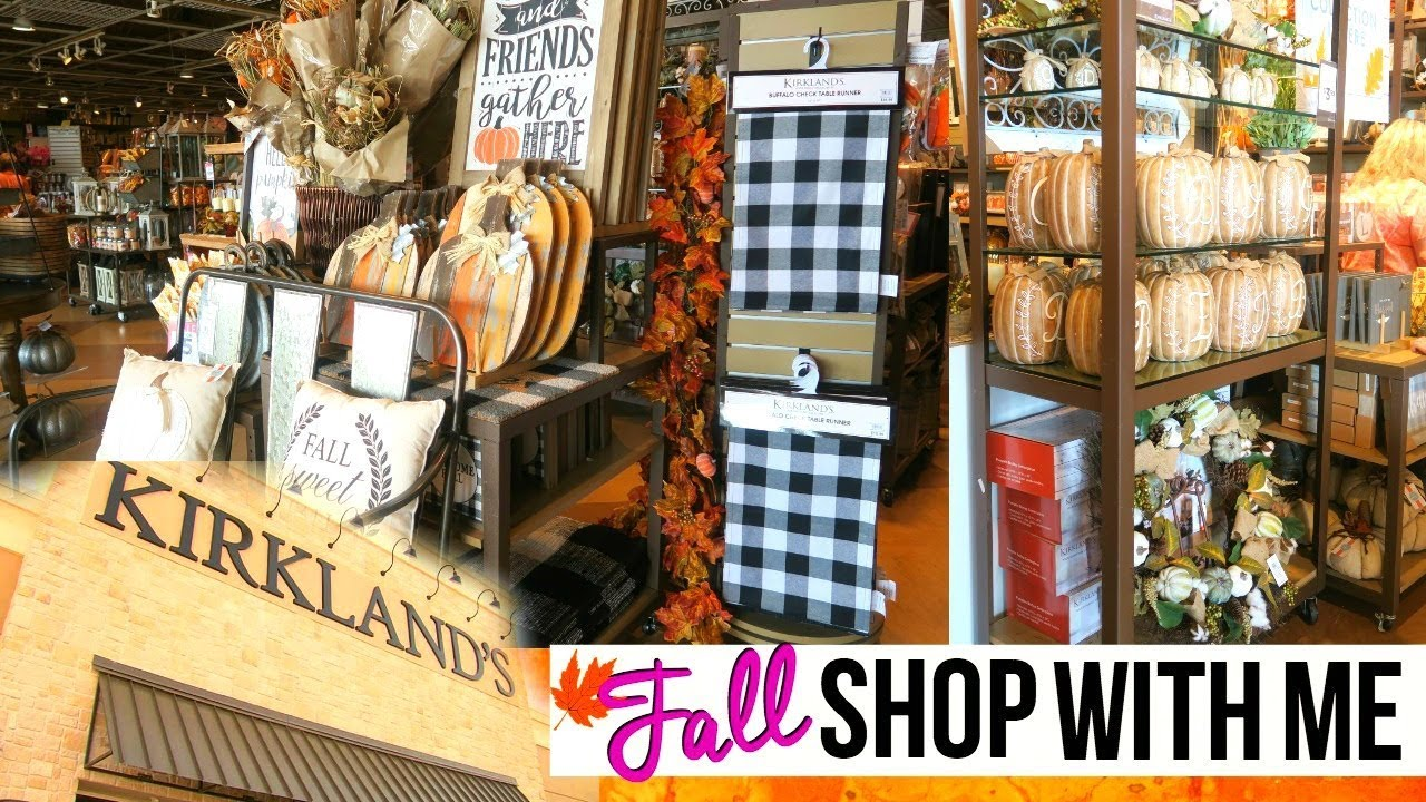 Shopping At Kirkland S For Fall Home Decor Kirklands Fall Shop With Me 2017 Page Danielle Youtube