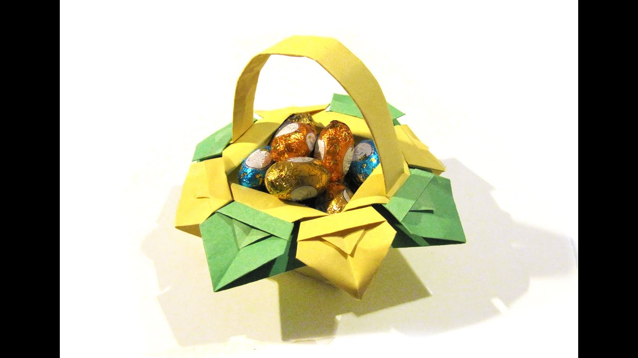 Easter Origami Basket - very easy origami - How to make an ... - photo#23
