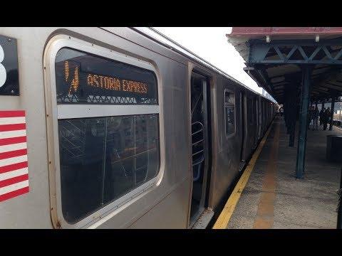 BMT Astoria Line: Manhattan & Astoria Bound R160 (N) (W) Trains @ Astoria Boulevard