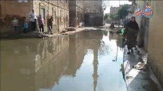مياه المجاري تحاصر اهالي قرية ميت هاشم مركز سمنود