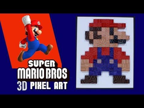HOW TO MAKE PIXEL ART **SUPER MARIO 8 BIT ART**