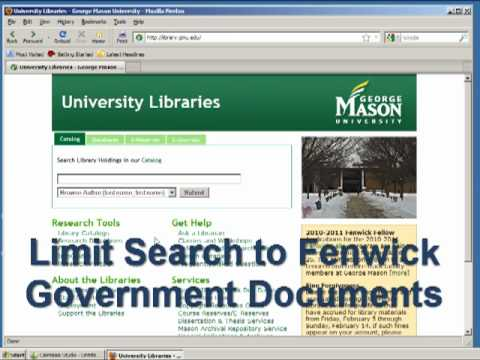 Tutorial on Finding U.S. Government Documents
