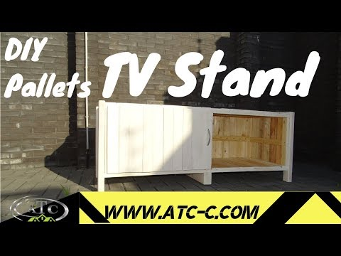 How To Make a TV Stand From Pallets With Storage Compartment...