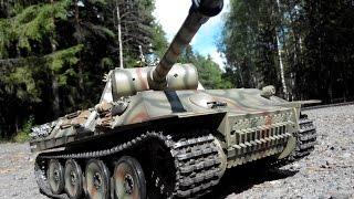 Обзор танка Taigen Panther pro, заправка масла, стрельба, проходимость