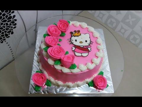 Cara Membuat Kue Ulang Tahun Hello Kitty How To Make A Hello Kitty Birthday Cake Youtube