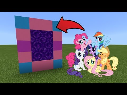 How To Make A Portal To The My Little Pony Dimension In MCPE (Minecraft PE)