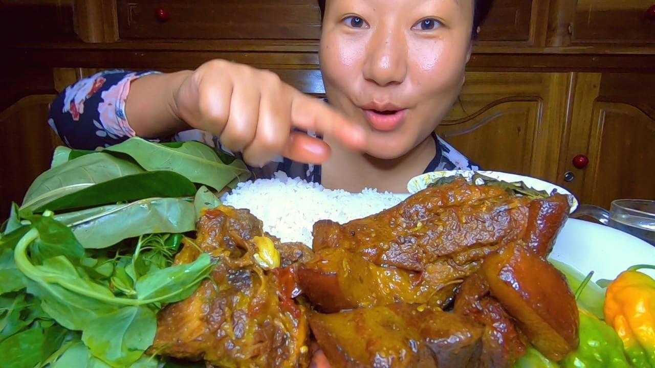 Eating Show || Pork And Sougri Kangsoi