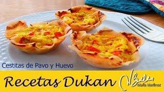 desayuno dukan fase ataque cestitas de pavo y huevo dukan diet pp breakfast