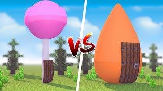 Minecraft: CASA DE DOCE VS. CASA SALGADA  ‹ JUAUM ›