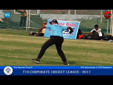 The Scapers vs TCS Research | Pre-Quarter Final 6 | T10 Corporate Cricket League 2017