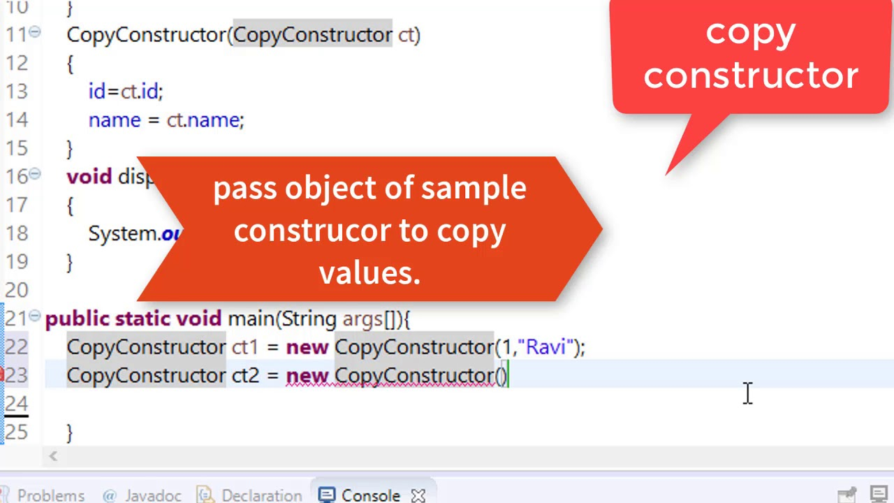 copy constructor java stack overflow