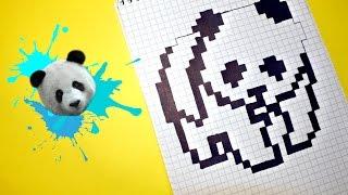 Рисуем по клеточкам- ПАНДА (настоящая панда)!