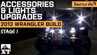 Jeep Wrangler (2007-2017 JK)  Off-Roading with Lights & Accessories!