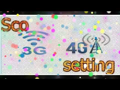 SCO 3G and 4G Setting