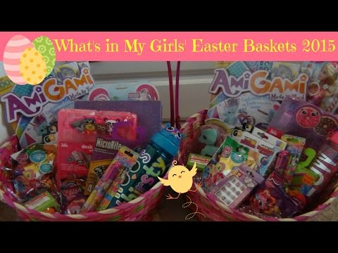 What's in My Girls' Easter Baskets 2015 | Watch Me Fill Them