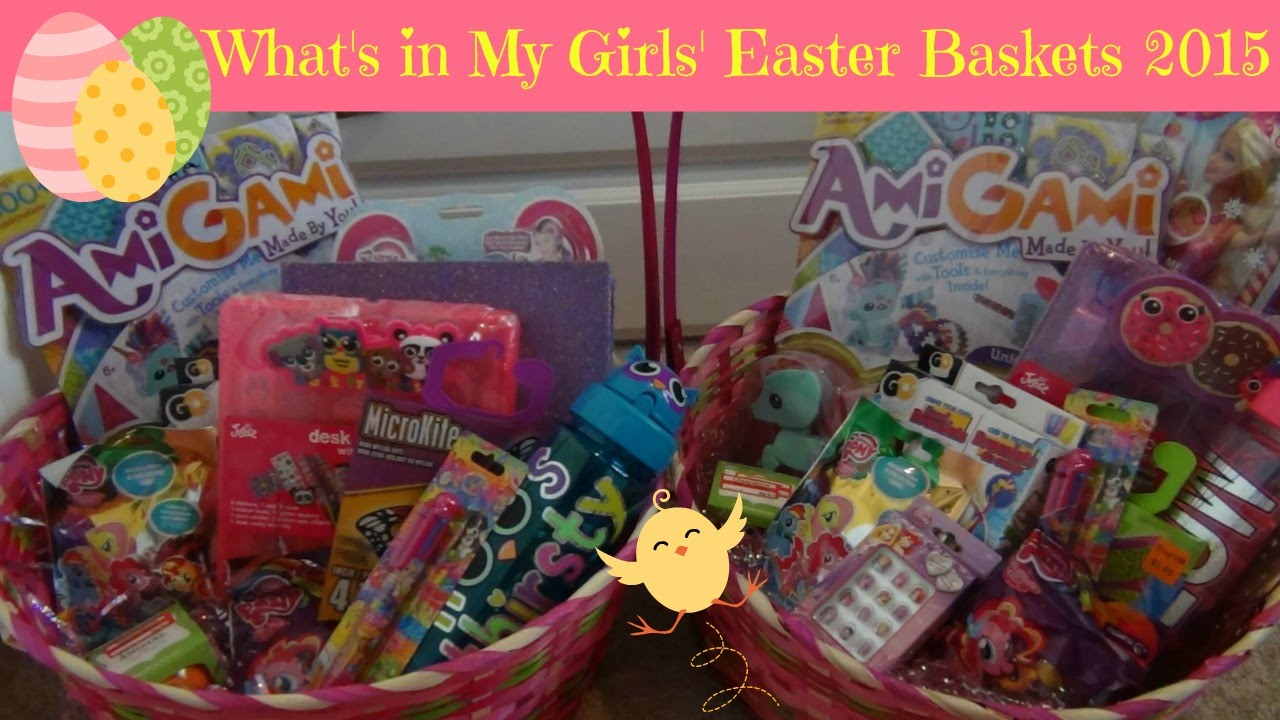 Whats in my girls easter baskets 2015 watch me fill them youtube negle Images