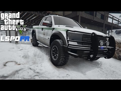 GTA 5 LSPDFR Police Mod Ep 52 | US Forest Park Ranger Patrol In The Snow | Ford F-150 Raptor