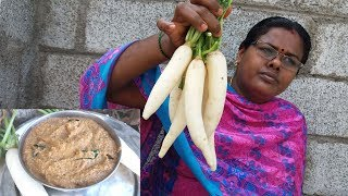Healthy White Radish Chutney Recipe for Idly / Dosa || Food Money Food