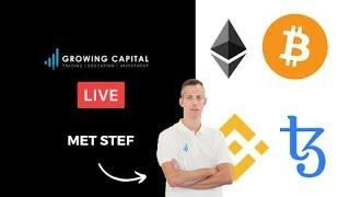 Growing Capital Live Bitcoin, Ethereum, BNB en Tezos!