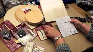 Use Walnut Hollow products to make your own clock. You