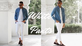HOW TO STYLE WHITE JEANS | 3 OUTFITS/LOOKS
