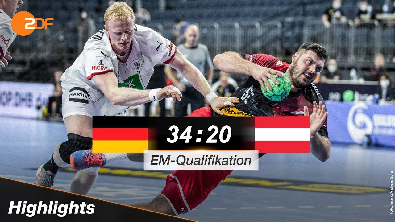 dhb team lost em ticket deutschland osterreich 34 20 handball em quali zdf