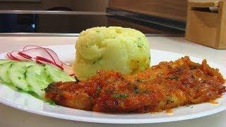 Филе белой рыбы запеченой c морковкой видео рецепт
