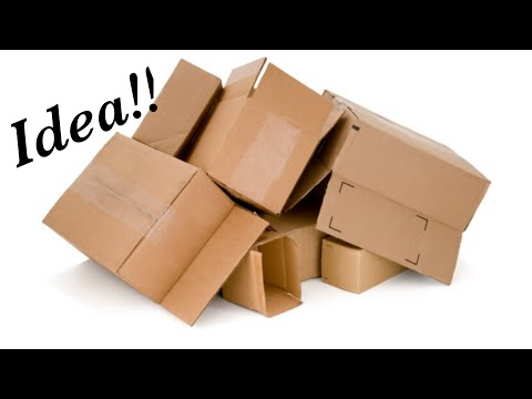 Waste material craft idea easy - craft using cardboard