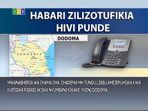 Tundu Lissu apigwa risasi nyumbani kwake Dodoma na watu wasiojulikana.