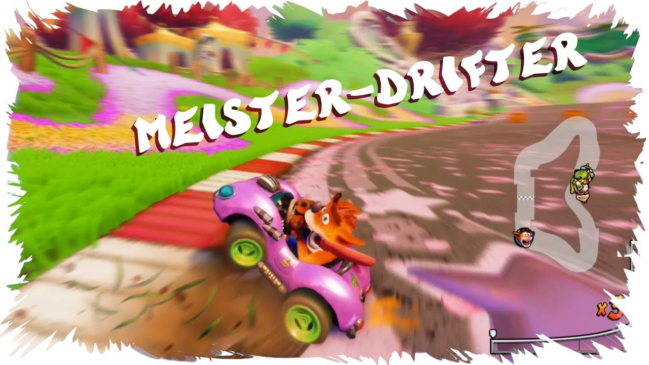 Crash Team Racing Nitro Fueled CTR Meister-Drifter Trophäe PS4 Achievement