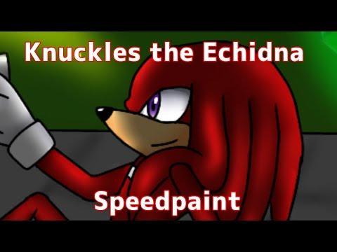 Knuckles the Echidna - ibisPaint X SPEEDPAINT