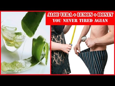 Why Aloe Vera is Good for Men - Make Juice with Aloe Vera Gel Lemon and Honey at Home
