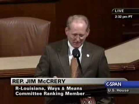 Ranking Member McCrery Speaks Against Medicare 45% Trigger