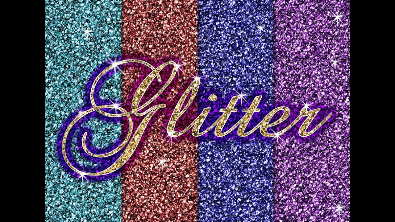 Easy Glitter in Photoshop for Backgrounds Patterns Text
