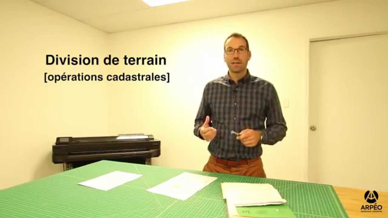 la division de terrain arp o arpenteur g om tre inc youtube. Black Bedroom Furniture Sets. Home Design Ideas