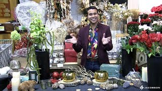 Jimmy Guzman of JNG Events Consulting designs a Holiday Arrangement