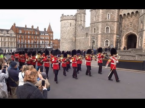 Changing the Guard at Windsor Castle - Saturday the 6th of April 2019