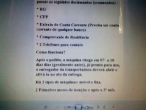 MAQUINA DE CARTÃO DE CRÉDITO PESSOA FÍSICA sem spc e serasa