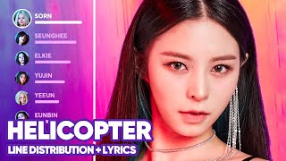 CLC - HELICOPTER (Line Distribution + Lyrics Color Coded) PATREON REQUESTED