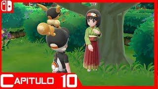 Pokémon Let's Go Eevee: Gimnasio Azulona - Español - Semi Guia - Capitulo 10 - Nintendo Switch