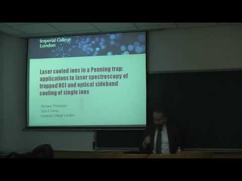 Laser cooled ions in a Penning trap by Prof.Thompson -A-