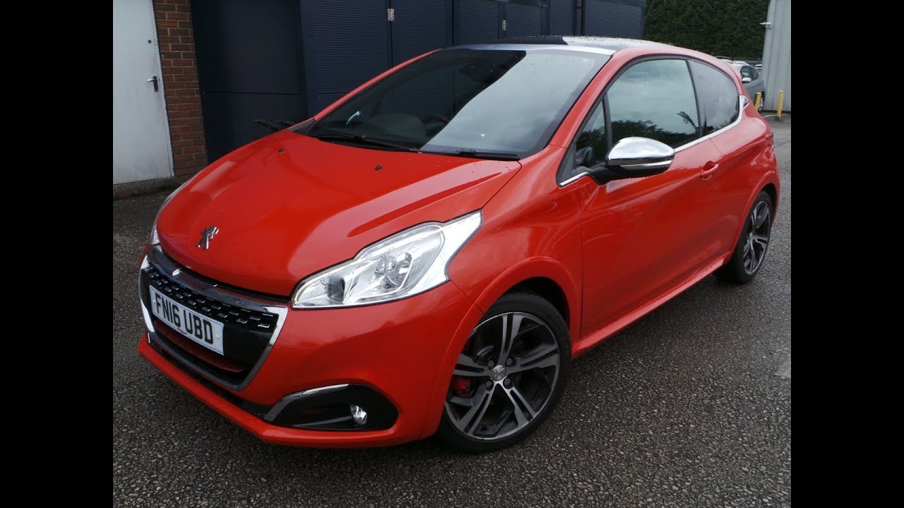2016 16 peugeot 208 1 6 thp gti prestige 3dr demo in orange youtube. Black Bedroom Furniture Sets. Home Design Ideas